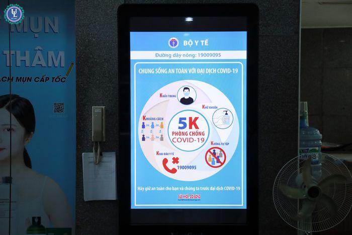 Tuyên truyền phòng chống dịch COVID 19 qua màn hình quảng cáo
